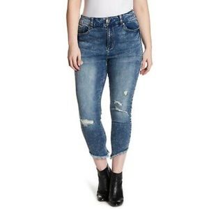 Seven7 High Rise Ankle Skinny Jeans